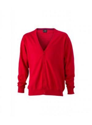 James & Nicholson piros színű Férfi V-nyakú Kardigán