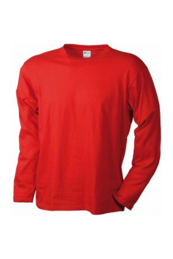 95de48d83a Taboo Hungary - James & Nicholson Férfi piros színű Hosszú Ujjú Póló