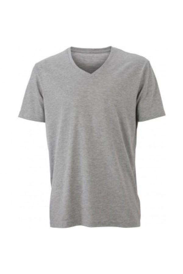 James & Nicholson Szürke színű Férfi V-nyakú póló