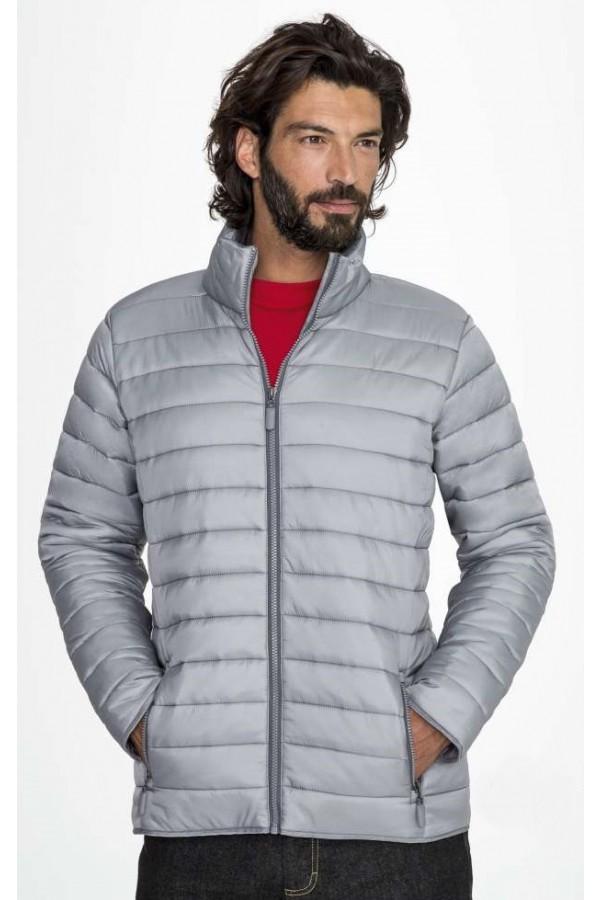 Férfi vékony dzseki ezüst szürke színű