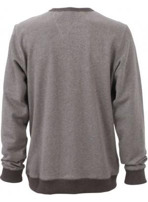 James & Nicholson Elegáns Férfi Kerek nyakú szürke színű pulóver