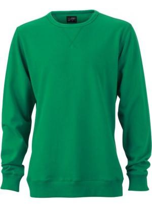 James & Nicholson Elegáns Férfi Kerek nyakú zöld színű pulóver