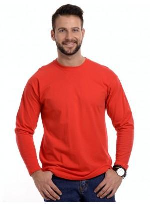 Férfi Hosszú Újjú Póló Piros