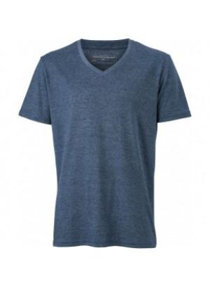 James & Nicholson Sötétkék színű Férfi V-nyakú póló