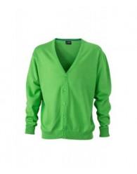 James & Nicholson zöld színű Férfi V-nyakú Kardigán