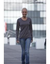 James & Nicholson Női faszén színű Hosszú ujjú póló